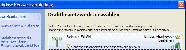 Windows XP Netzwerkadresse beziehen