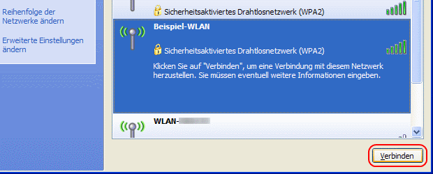 Windows XP WLAN einrichten