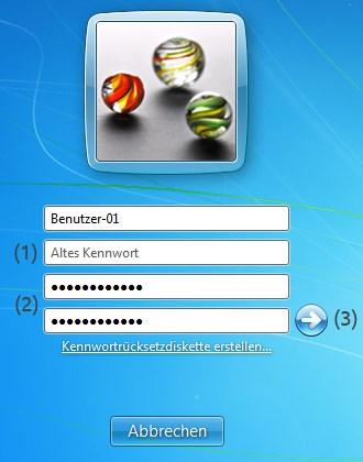 Windows 7 Kennwort erstellen