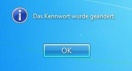 Windows 7 Kennwort wurde geändert