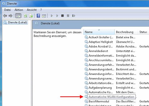 Windows 7 Diensteverwaltung