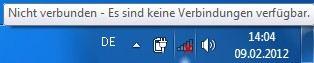 Windows 7 Nicht verbunden - Es sind keine Verbindungen verfügbar