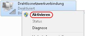 Windows 7 WLAN-Verbindung aktivieren