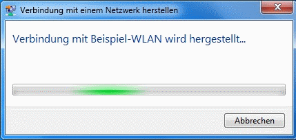 Windows 7 WLAN Verbindung wird hergestellt