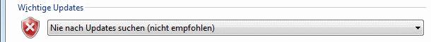 Windows Vista Nie nach Updates suchen