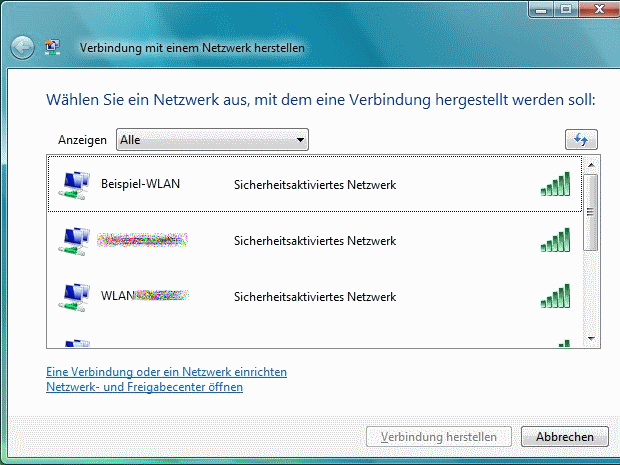 Windows Vista WLAN einrichten » bits meet Bytes