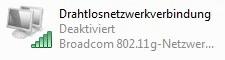 Windows Vista WLAN-Verbindung deaktiviert