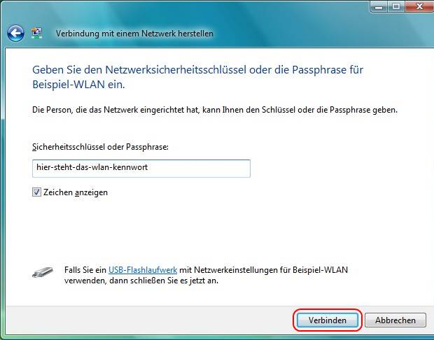 Windows Vista WLAN verbinden