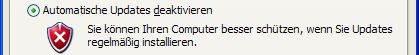 Windows XP Automatische Updates deaktivieren