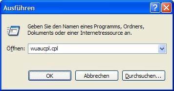 Windows XP Automatische Updates aufrufen