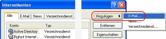 Outlook Express Einrichtungsassistenten aufrufen
