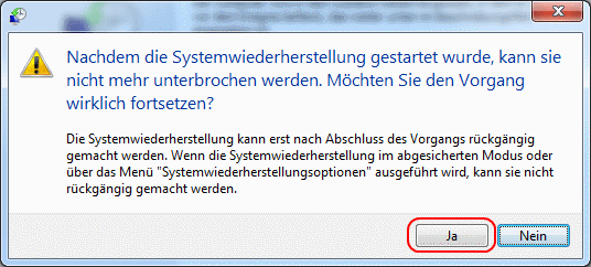 Windows 7 Systemwiederherstellung starten