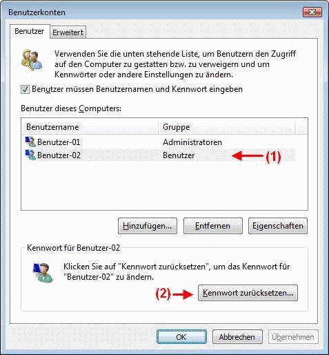 Windows Vista Benutzerkonten