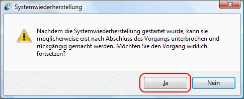 Windows Vista Systemwiederherstellung starten