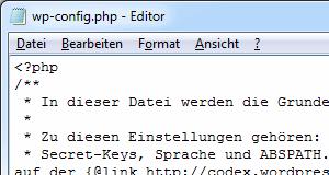 wp-config.php erstellen