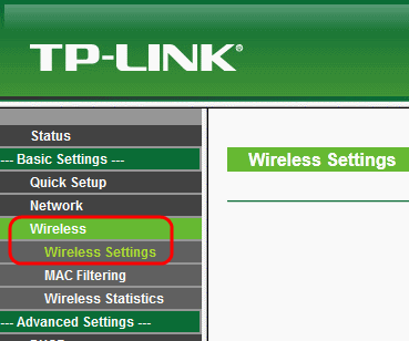 TP-Link TL-WR340G Wireless Settings