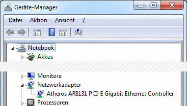 Windows 7 Geräte-Manager kein WLAN-Adapter