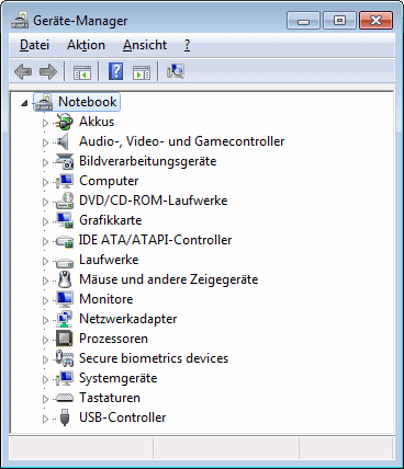 Windows 7 Geräte-Manager