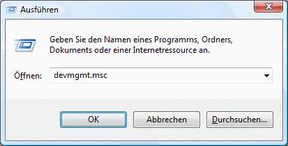 Windows Vista Geräte-Manager aufrufen