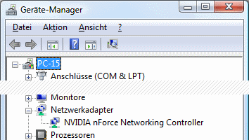 Windows Vista Geräte-Manager kein WLAN-Adapter