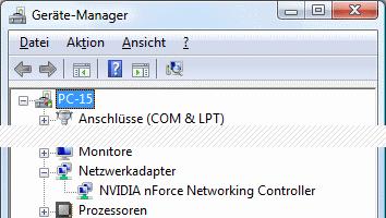 Windows Vista Geräte-Manager kein WLAN-Adapter