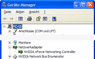 Windows XP Geräte-Manager kein WLAN-Adapter
