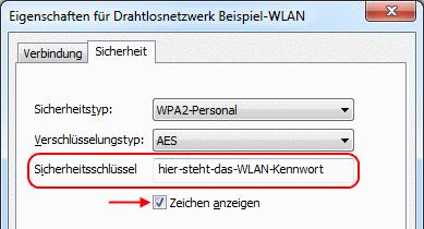Windows 7 WLAN-Kennwort anzeigen