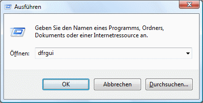 Windows Vista Defragmentierung aufrufen