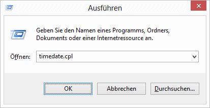 Windows 8 Systemzeit aufrufen