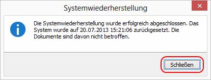 Windows 8 Systemwiederherstellung abgeschlossen