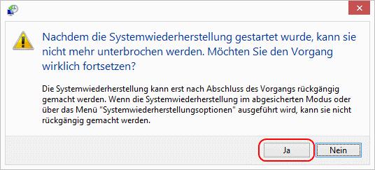 Windows 8 Systemwiederherstellung starten