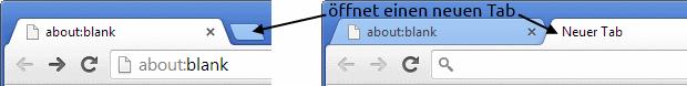 neuen Tab im Browser öffnen