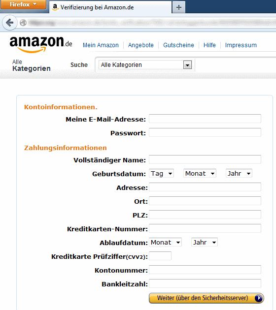 Datenklau: Verifizierung bei Amazon