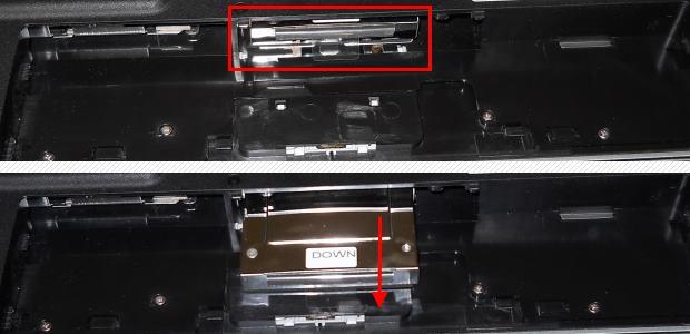 Notebook-Festplatte ausbauen Akkufach
