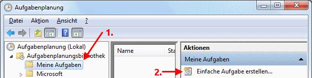 Windows 7 Aufgabe für automatische Interneteinwahl erstellen