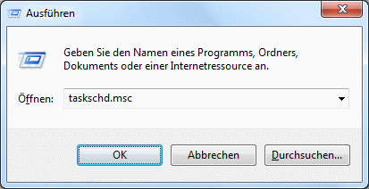 Windows 7 Aufgabenplanung aufrufen
