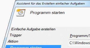 Windows 7 Bbreitbandverbindung per Task herstellen