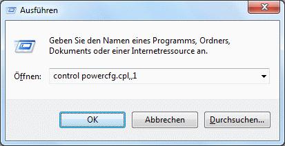 Windows 7 erweiterte Energieoptionen aufrufen