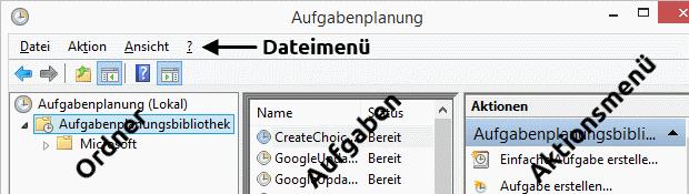 Windows 8.1 Aufgabenplanung