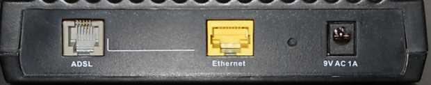 Anschlüsse des DSL-Modems Siemens ADSL C2-010-I