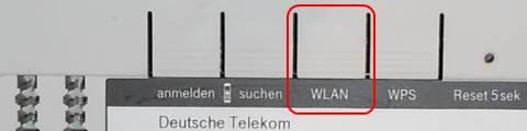 Speedport W 921V WLAN-Taste WLAN ein- und ausschalten