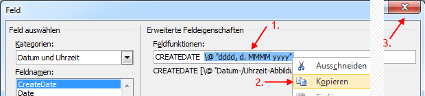 Word Serienbrief Feld Datumsformat kopieren