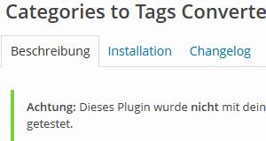 WordPress Kategorie- und Schlagwort-Konverter