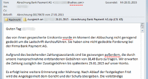 SPAM: Bank Payment AG
