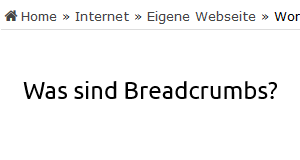 Was sind Breadcrumbs?