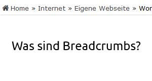 Was sind Breadcrumbs?
