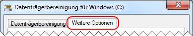 Windows 7 Datenträgerbereinigung Weitere Optionen