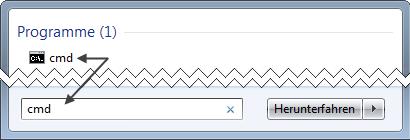 Windows 7 Eingabeaufforderung aufrufen
