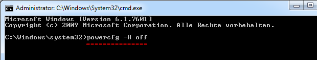 Windows 7 Ruhezustand abschalten