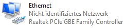 Windows 8.1 Ethernet-Verbindung Nicht identifiziertes Netzwerk